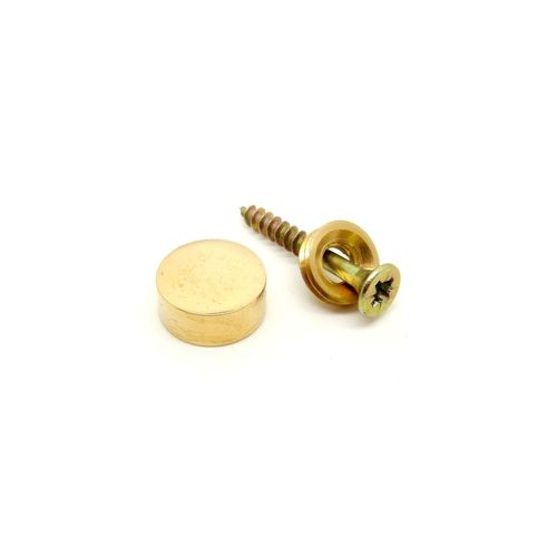 Decorative brass screw cup, D=15mm, color gold polished