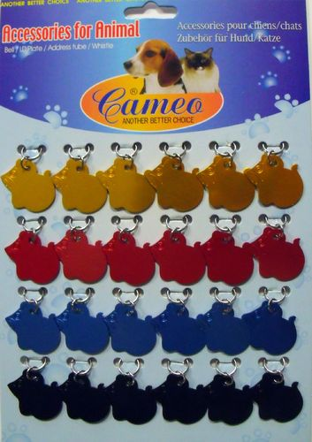 "Aluminum Tag ""Mouse"" Set of  24 pcs. anodis. Alum."