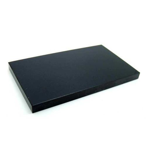 "Absolute black Fotomarble tile 12""x12""x8mm."