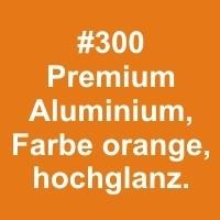 Aluminium glanz, Farbe orange 305x610x0,6mm