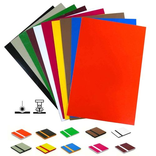 Starter Set Laser engraving plastic 1,5mm 10 colors 20x30cm