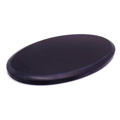 Absolute black Fotomarble Oval 216x280x7mm.