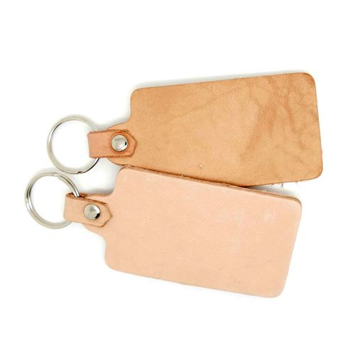 Calf leather key fob rectangle 9,5 x 4,2 cm.