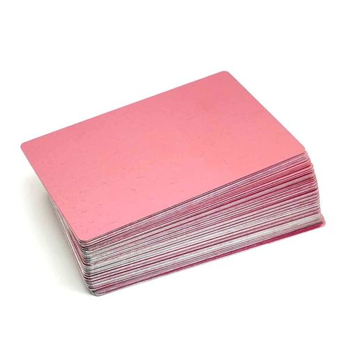 Alum. busines cards 100 pcs. 85x54mm PINK GOLD