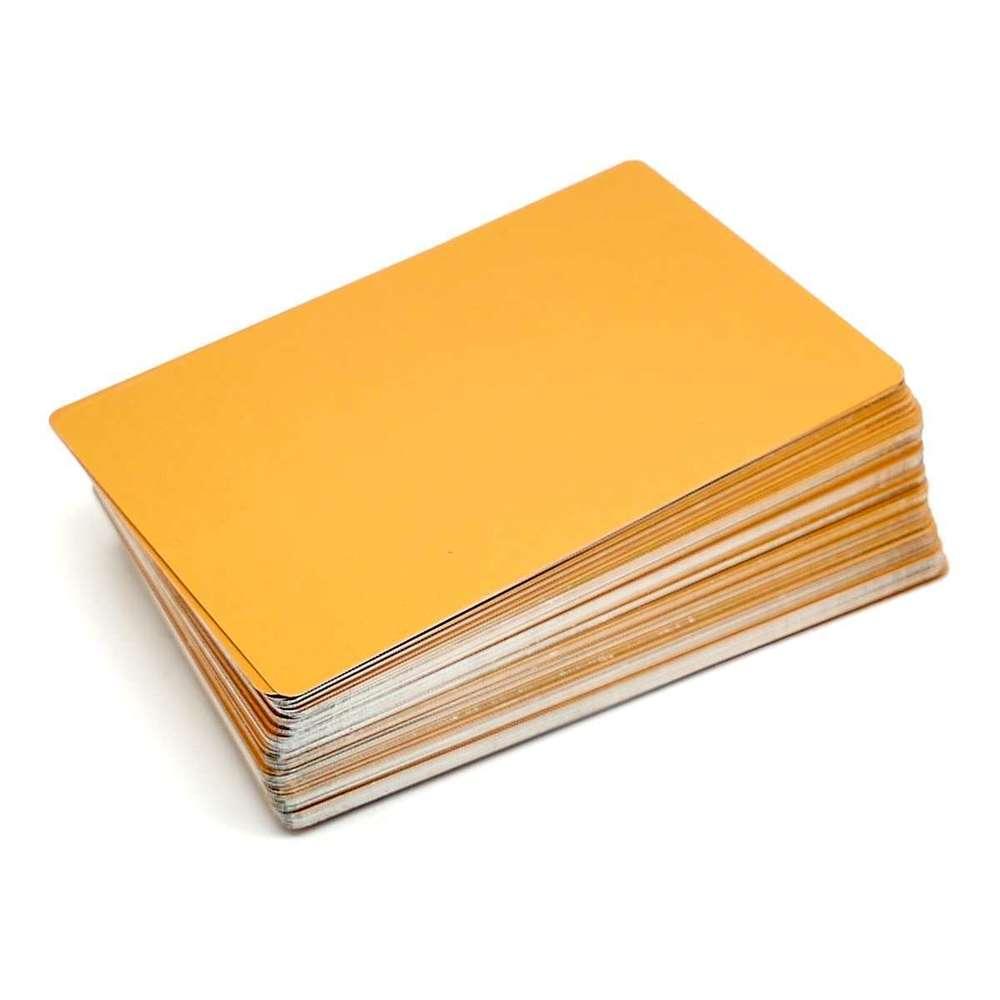 Alum Visitenkarten 100 Stck 85x54mm Gold