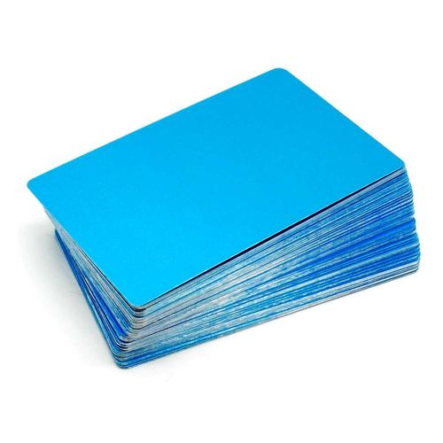 Alum. busines cards 100 pcs. 85x54mm  BLUE