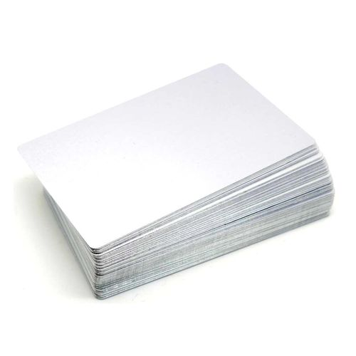 Alum. busines cards 100 pcs. 85x54mm  SILVER