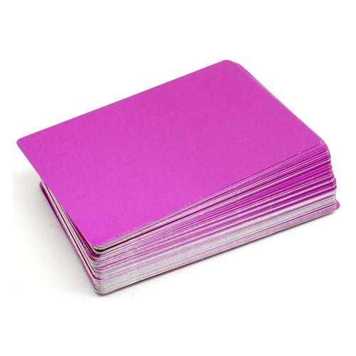 Alum. busines cards 100 pcs. 85x54mm  VIOLET
