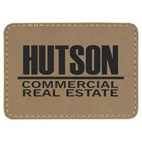 Patch 89x63mm faux laser leather, thermoadhesive.
