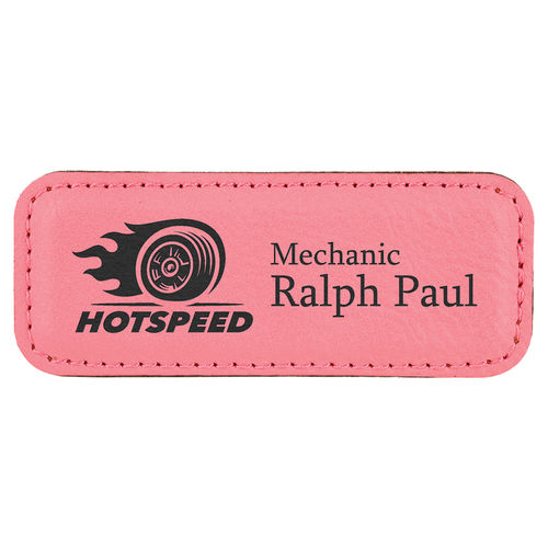 Name badge 82x32mm with Magnet, Laserquality