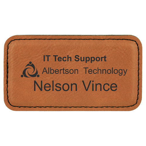 Name badge 82x44mm with Magnet, Laserquality