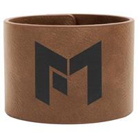 Cuff bracelet 241x50x2,4mm dark brown Leatherette