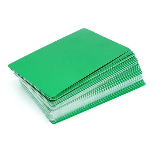 Alum. busines cards 100 pcs. 85x54mm  GREEN