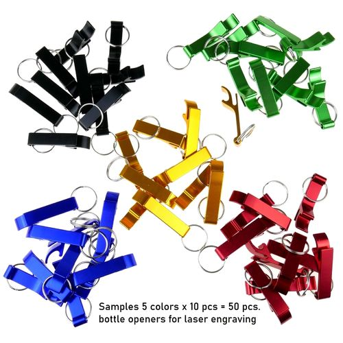 Bottle opener 60x12mm set 5 colorsx10pcs=50pcs
